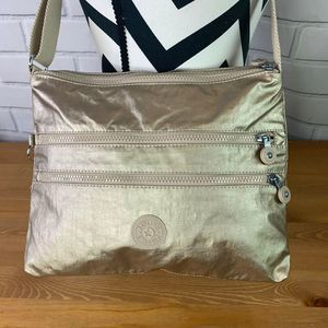Kipling Purse Cross Body Bag Metallic Gold